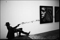 Jef Aerosol (intasko) Tags: monochrome film analog roubaix france jefaerosol graphics art urban street mju olympus bw artistic clinteastwood