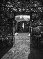 See-through (Ludo_Jacobs) Tags: church ruins ancient old building architecture ireland monochrome blackandwhite europe