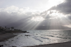 rays of light (tasos st) Tags: rays sun summer light clouds canon eos 500d outdoors sea waves beach afternoon smooth smoothlight sky seasunclouds landscape water