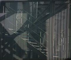 Shadow on the Wall (Ed Sax) Tags: fascade cage feuertreppe design architecture edsax hamburg stephansplatz gustavmahlerpark spielbank schatten schattenwurf muster abstrakt grau schwarz weis