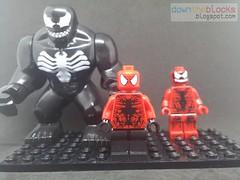 Lego Marvel Toxin (Symbiote) Minifig MOC (downtheblocks) Tags: toxin venom carnage minifig lego marvel symbiote spiderman spiderverse moc