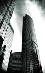 #MoscowCity black and white (NO PHOTOGRAPHER) Tags: hochhaus gebäude cityscape skyline detail blackandwhite monochrome building outdoor architecture iphoneography iphonephotography exterier urban blue skycraper iphone 6s panorama panoramatic москва россия архитектура строительство река мост photography mobile mobilephotography sunlight sunset light bw contrast diagonal white black abstract