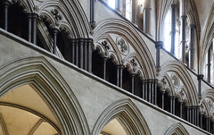 Salisbury Cathedral, nave gallery close (profzucker) Tags: salisbury salisburycathedral earlyenglish gothic england architecture cathedral smarthistory medieval english