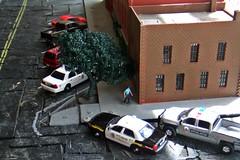 Long day 7-25-2017 (THE RANGE PRODUCTIONS) Tags: greenlight fordcrownvictoriapoliceinterceptor chevroletsilverado 164scale dioramas diecast diecastdioramas hoscalefigures toy model modular