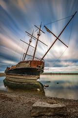 La Grande Hermine, Lincoln Ontario (angie_1964) Tags: lagrandhermine lincoln ontario shiop boat lakeontario water sky longexposure canada nikond800e sunset