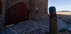 Sossusvlei area, Namibia - December 6, 2008.  Le Mirage. (annick vanderschelden) Tags: africa namibia arid desert namib lemirage lodge tourism grass sand mountain sky clouds sossusvlei establishment sesriem dunes rooms resort spa pool path