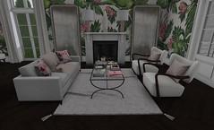 Chic (17) (brinks_lemmon) Tags: decorating interior design modern secondlife chairs desk table flowers bushes interiordesign art designer marble chic elegant sophisticated