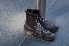 goodbye old friends (198/365) (werewegian) Tags: boots abandoned worn damaged werewegian glasgow jul17 365the2017edition 3652017 day198 17jul17