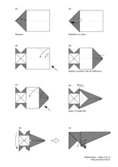 Baby elephant (2008) - diagram 2/4 (Orizuka) Tags: origami diagram elephant