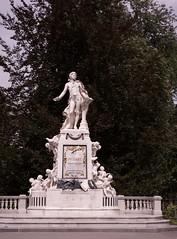 Mozart monument 2 (Mount Fuji Man) Tags: vienna mozart sculpture statue monument memorial austria 2017 wien thecityofdreams bundesland stadtpark unedited nophotoshop