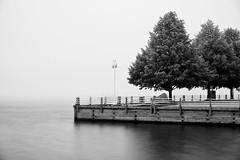 fog, st. marys river (twurdemann) Tags: 30seconds bigstopper boardwalk bondarmarina fog fujixt1 internationalbridge leeseven5 longexposure neutraldensityfilter saultcanal saultstemarie stmarysriver summer water waterfront weather xf1855mm