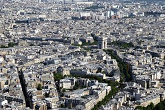 l'Arc de Triomphe viewed from the Eiffel Tower (Muddy LaBoue) Tags: iledefrance monuments towers iconicarchitecture 1889 2017 july worldexposition eiffeltower paris france attractions tourism panasoniclumixdmctz60 summer