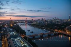 London at Dusk Along the Thames (www.mikereidphotography.com) Tags: london sunset bigben parliament londoneye shard