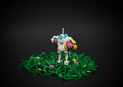 / Analyzing Organic Growth... \ (NS LEGO Designs) Tags: lego moc creation build nslegodesigns scene drone robot bot exploration space scifi journey terrain futuristic