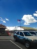Fiercely Blowing Flag (malchats) Tags: alpine clouds colorado elevation flag gusty rockymountainnationalpark sky starsandstripes usa visitorcenter windy