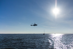 Helicopter flyby (Nils Croes) Tags: canon 60d 1740mm netherlands ijsselmeer sea lake sailing sail sun helicopter rescue sunny horizon