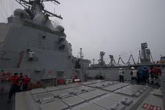 170716-N-BY095-0068 (SurfaceWarriors) Tags: ussshoup ddg86 replenishmentatsea destroyer arleighburkeclass deployment carrierstrikegroup11 desron9 malabar2017 insjyoti bayofbengal