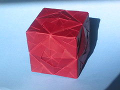 Sonobe Cube Lamp (georigami) Tags: origami papiroflexia paper papel