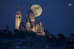 sacré coeur lune (apparencephotos) Tags: paris tourisme voyage france sacrécoeur montmartre lune moon