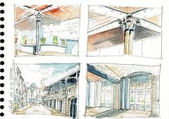 Niort, Office du Tourisme, en papotant (Croctoo) Tags: croctoo croctoofr croquis aquarelle watercolor ville niort poitou poitoucharentes