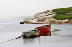 Peggy's Cove (kkirby864) Tags: novascotia peggyscove summer boats atlanticocean sea saltair fog
