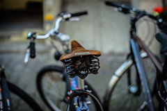 Some Bikes and one BROOKS (*Capture the Moment*) Tags: 2016 brooks bern berne bicycle bicycleseat bokeh citytrip citywalk fahrrad fotowalk leather leder minimalism minimalismus sattel vintage bokehlicious handmade