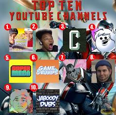 Top Ten Youtube Channels (AntMan3001) Tags: top ten music artists