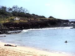 Relaxing on the beach (thomasgorman1) Tags: ocean pacific island lanai hawaii people woman fujifilm sand tide rocks lavarock outdoors relaxing