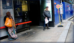 `2056 (roll the dice) Tags: london wc2 westend charingcrossroad leicestersquare londonist westminster busstop pete doherty advertising down smoke weed drugs wisdom reaction teeth dentist mad sad fun funny surreal gloom fashion shops shopping uk art classic england urban unaware unknown portrait strangers candid canon tourism tourists pretty bag boots fag bad grim libertines music fur cap stick watch dirty rough people natural summer weather