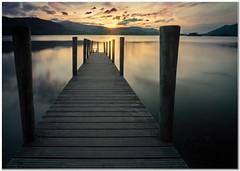Sunset at the jetty (Hugh Stanton) Tags: jetty lake sunset golden appicoftheweek