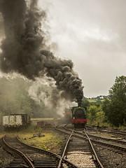 Foxfield 3 (Nigel Valentine) Tags: clag smoke foxfield steam rain cloud
