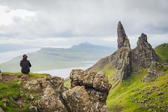 Alone WoMan of Storr - Isle of Skye (Arnaud Gremillon) Tags: old man storr skye isle scotland ecosse rock roche