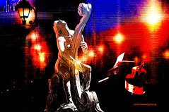 NIGHT STREET CONCERT. (Viktor Manuel 990.) Tags: concert concierto night noche street calle surrealism surrealista digitalart artedigital querétaro méxico victormanuelgómezg