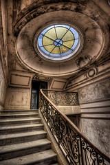 Château Sculpture (Batram) Tags: château sculpture urbex muet hdr lost place urban exploration bed stairs light staircase armchair