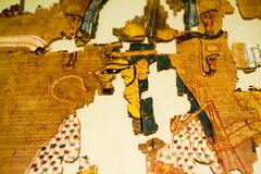 Gold leaf (Stray Toaster) Tags: cambridge fitzwilliam museum egyptian book dead papyrus ramose