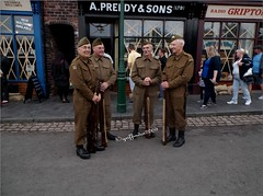 Dads Army (griffindor2009) Tags: dadsarmy dudley 1940sweekend blackcountrymuseum fujifilmfinepixt550 outdoors soldiers army