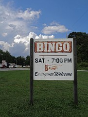 (C. Neil Scott) Tags: statesvillenc northcarolina iredellcounty bingo sign thecityofprogress clouds sky