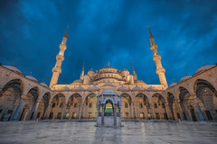 Blue Mosque (TheFella) Tags: irixlens arcade slr bluemosque city turkey thefellaphotography architecture minarets turkish photo camii domes nikon sultanahmetcamii istanbul dusk mosque photograph postprocessing türkiyecumhuriyeti fountain digital sultanahmedmosque constantinople arch sedefkârmehmedağa photoshop religious dslr arches photography conormacneill d810 lightroom worship minaret revak islam twilight cloudy european sunni dome travelphotography processing sultanahmetmosque byzantium islamic religion republicofturkey blue urban clouds bluehour travel courtyard irix türkiye adobe thefella europe sky building