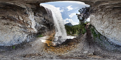 360 panorama at Sbarco de Fanes (Sitoo) Tags: 360degree 360panorama 360photography 360degreeview cortinadampezzo dolomiti fanes ferrata sbarcodefanes equirectangular falls fixedrope mountaineering nature river rock waterfall