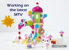 Working on the latest MTV (WhiteFang (Eurobricks)) Tags: lego collectable minifigures series city town space castle medieval ancient god myth minifig distribution ninja history cmfs sports hobby medical animal pet occupation costume pirates maiden batman licensed dance disco service food hospital child children knights battle farm hero paris sparta historic ninjago movie sensei japan japanese cartoon 20 blockbuster cinema
