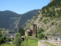 Sant Joan de Caselles Church and view of Canillo, Andorra (Paul McClure DC) Tags: pyrenees july2017 andorra canillo santjoandecaselles church romanesque mountains