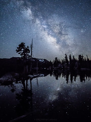 The Milky Way Over Desolation Wilderness (Mike Cialowicz) Tags: a6000 ca california desolationwilderness sony tahoe backpacking hiking milkyway stars night sky starscape landscape echolake unitedstates us 12mmf20 lakeofthewoods