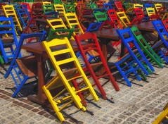 chairs (try...error) Tags: red rot yellow gelb crete kreta greece urban