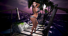 leannamaisl RHD Photo Contest Entry (Leanna Mai) Tags: rebel hope designs rhd photo contest sl second life leanna leannamai leannamaisl mai bikini zebra lumipro beach maitreya lelutka cornrows braids braid braided water ocean sea wave waves sun sunlight sunset cloud clouds palm tree trees palms island bridge wood plant walk purple swim swimsuit bento mesh glam affair simone bare feet toe toes blow blowing blown kiss kisses