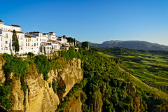 Eight o'clock in the evening (Tiigra) Tags: ronda andalucía spain es 2015 architecture landscape mountain plant rock sunset town tree village