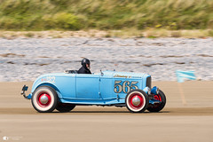 To the flag (technodean2000) Tags: hot rod pendine sands wales uk nikon d610 baby blue red wheels classic car sea sky outdoor d810 old postcard style vehicle truck digital nikkor auto monochrome stromberg 97 equipped 565