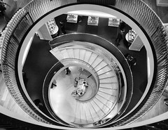 Spiral (clive777) Tags: spiral staircase blackandwhite monochrome stairs circle