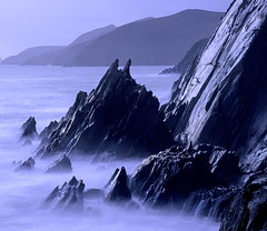 Slea-Head - Dingle Penninsula (Frédéric Lefebvre - Landscape photography) Tags: mist sky landscape fog sea winter water cold nature beach travel blue ocean rock waves evening mountain dawn long exposure outdoors ireland dingle kerry beautiful light slea head no person