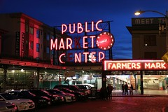 Pike Place at Night (stuartcatlin) Tags: pikeplacemarket pikeplace market nightshot seattle usa lonelyplanet