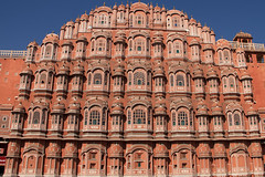 The Palace of the Winds [Hawa Mahal] (Chandana Witharanage) Tags: india southasia hawamahal rajasthan jaipur islam palace royalpalace architecture palaceofthewinds pattern sandstone traditional vertical wind windpalace view vista antique art building facade monument travel tourist tourism lookingup world ca canon canon7dcamera chandanawitharanagephotography